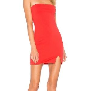 by the way. strapless mini dress